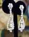 A magnificent pair of 8.30ct Diamond Drop Earrings set in 18ct White Gold, Circa 1955 - image 3