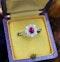 A very fine Vintage Ruby & Diamond Cluster Ring, Circa 1990 - image 1