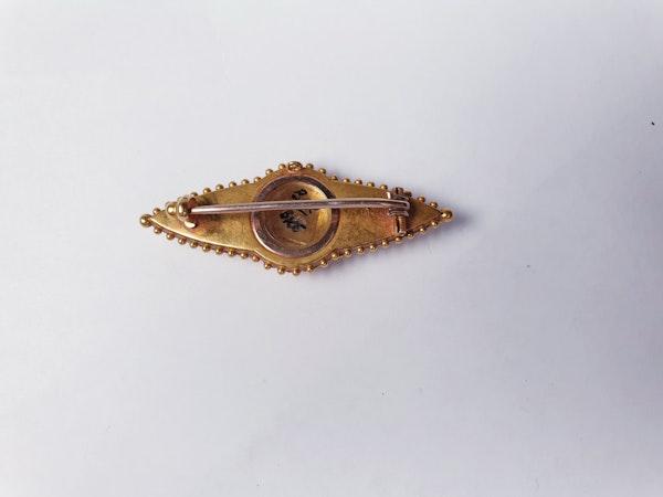 Victorian gold and diamond brooch sku 4830  DBGEMS - image 3
