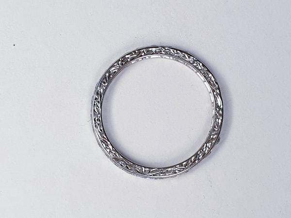 Art deco diamond eternity band SKU 4827  DBGEMS - image 2