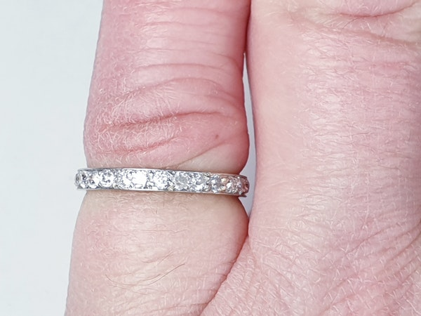 Art deco diamond eternity band SKU 4827  DBGEMS - image 3