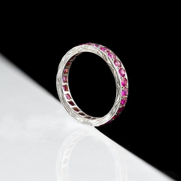 An Art Deco Burma Ruby Eternity Ring - image 5