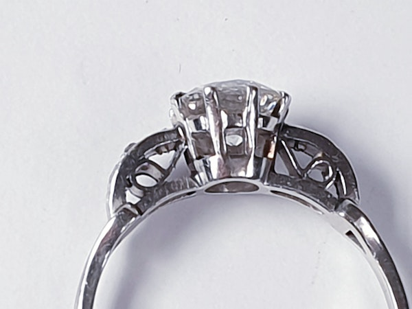 Art deco diamond engagement ring sku 4832  DBGEMS - image 3