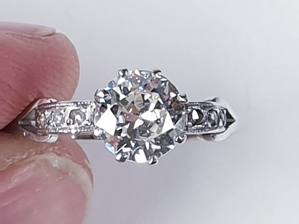 Art deco diamond engagement ring sku 4832  DBGEMS - image 4