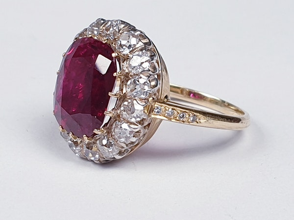 Stunning 3.93ct natural ruby and diamond cluster ring sku 3834  DBGEMS - image 2