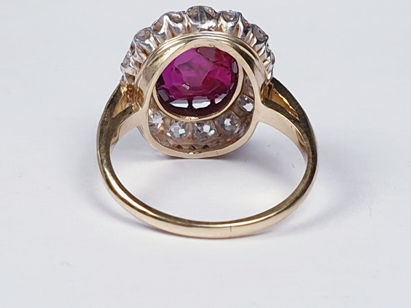 Stunning 3.93ct natural ruby and diamond cluster ring sku 3834  DBGEMS - image 3