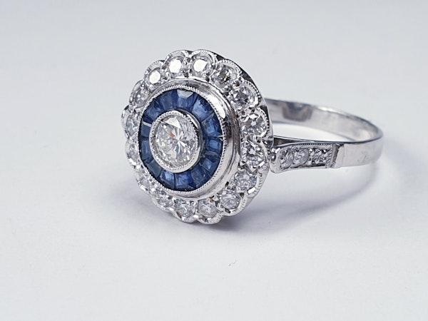 Sapphire and diamond target engagement ring sku 4836  DBGEMS - image 2
