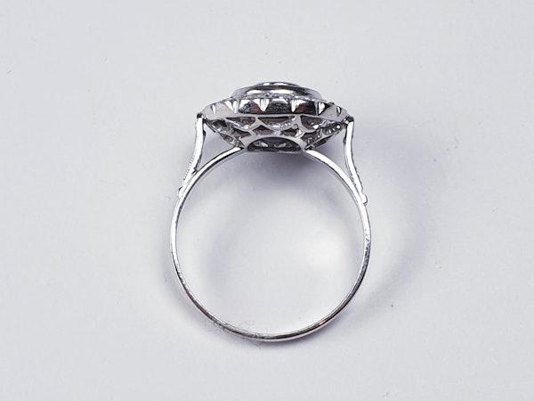 Sapphire and diamond target engagement ring sku 4836  DBGEMS - image 4
