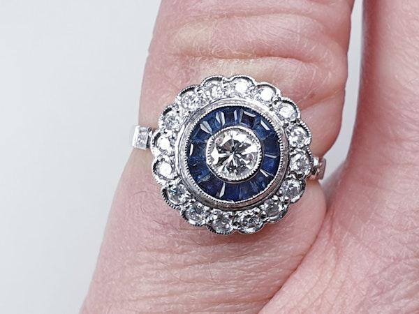 Sapphire and diamond target engagement ring sku 4836  DBGEMS - image 5