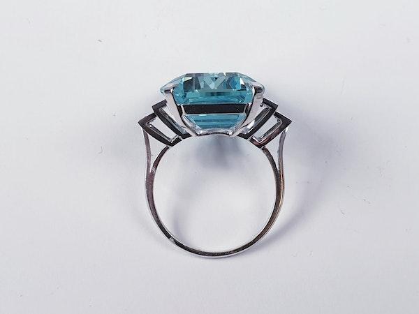 Aquamarine and diamond dress ring sku 4845  DBGEMS - image 4