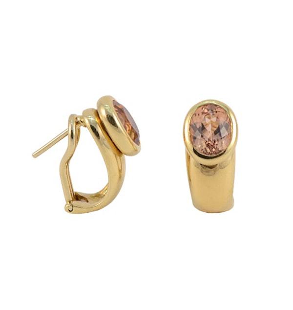Topaz Earrings in 18ct Gold date circa 1980 SHAPIRO & Co since1979 - image 1