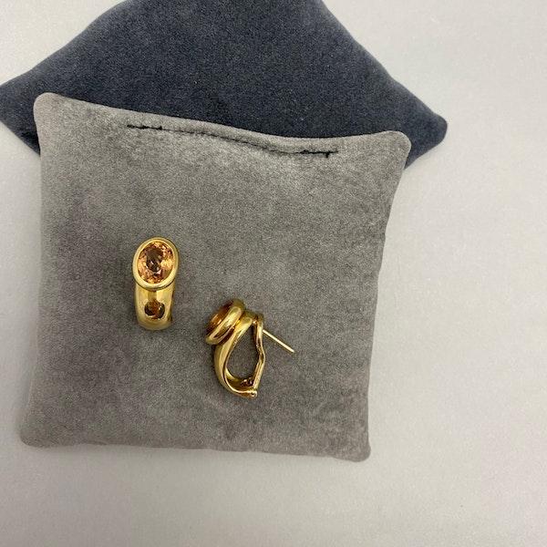 Topaz Earrings in 18ct Gold date circa 1980 SHAPIRO & Co since1979 - image 3