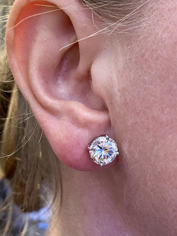 Diamond Ear Studs, Total weight of Diamonds 6.76ct - image 1