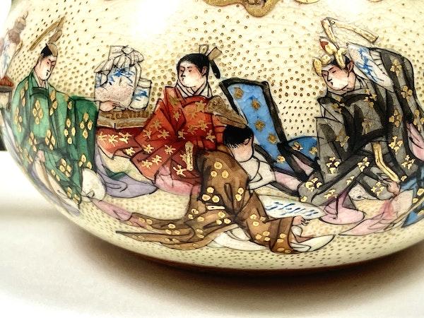 Japanese Satsuma pottery wine pot - image 6