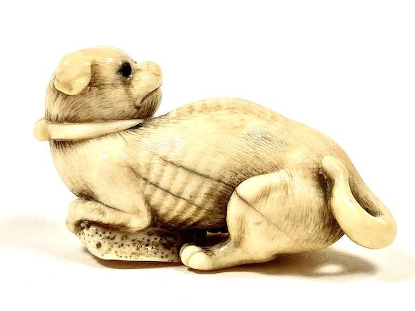 Netsuke of puppy - image 2