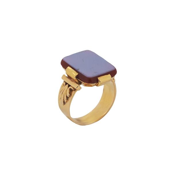 A Swedish Carnelian Gold ring - image 2