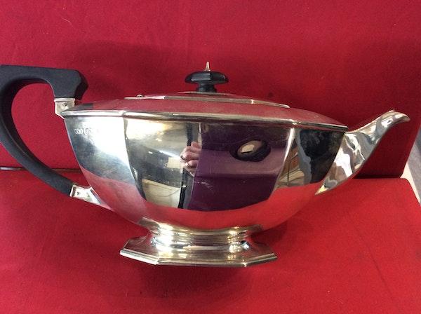 A silver Art Deco tea set - image 5