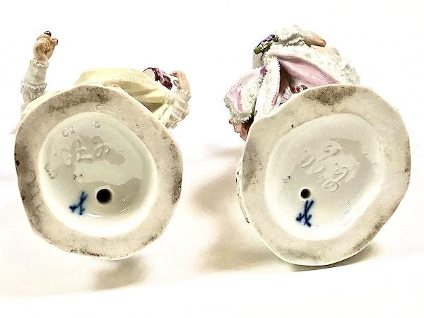 Pair of Meissen figures - image 7