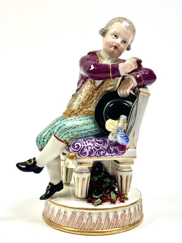Pair of Meissen figures - image 3