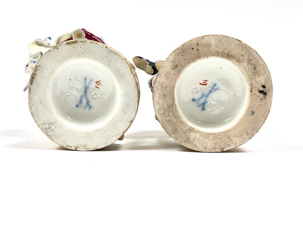 Pair of Meissen figures - image 7