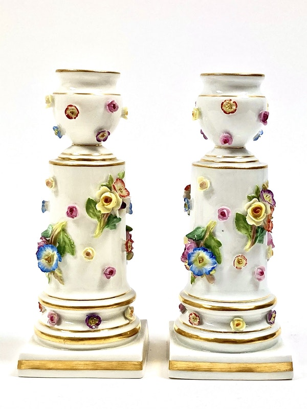 Pair of 19th century Meissen candlesticks - image 2
