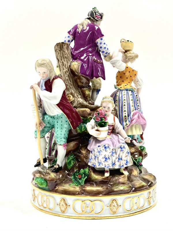 Large Meissen group - image 4