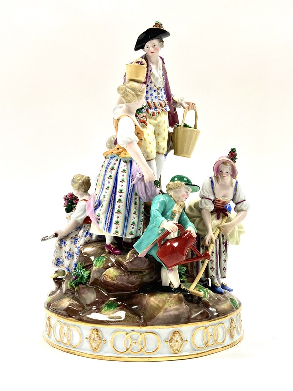 Large Meissen group - image 2