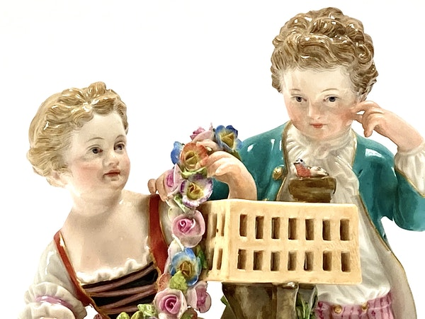 Meissen group of courting couple - image 5