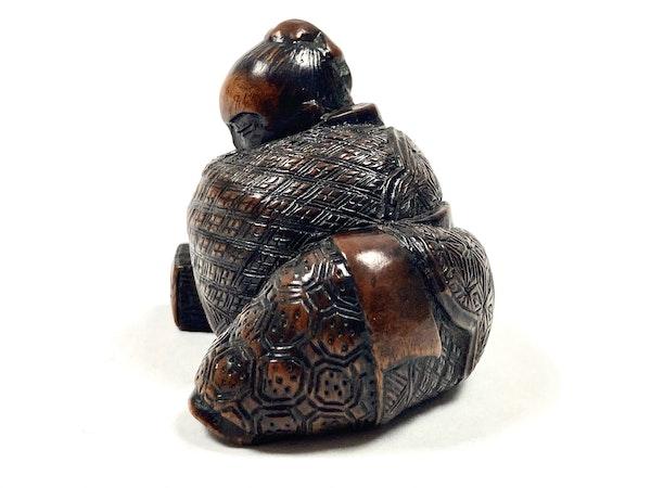 Wood netsuke of sage - image 4