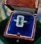 A very fine oblong Emerald & Diamond Ring set in Platinum, English, Circa 1930 - image 1
