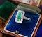 A very fine oblong Emerald & Diamond Ring set in Platinum, English, Circa 1930 - image 2