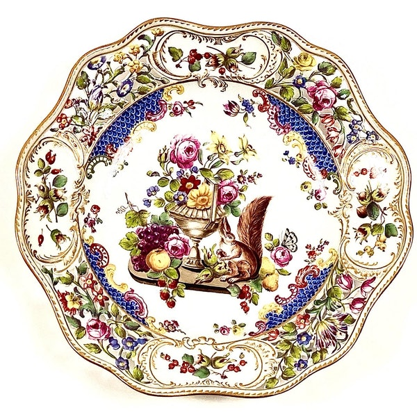 Pair of reticulated 19th century Meissen plates - image 2