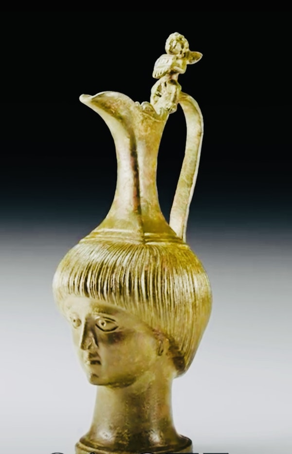 Bronze Roman Jug - image 5