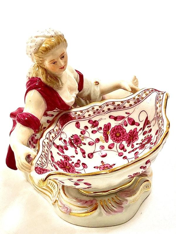 Pair of Meissen figural sweetmeats - image 6