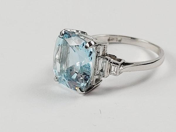 Aquamarine and diamond dress ring sku 4850   DBGEMS - image 3