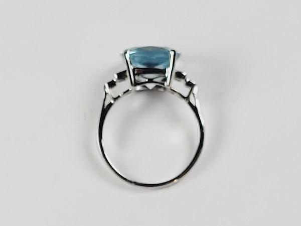 Aquamarine and diamond dress ring sku 4850   DBGEMS - image 2