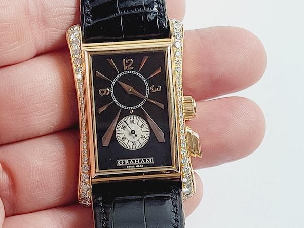 Graham 18ct gold and diamond manual watch sku 4851  DBGEMS - image 4