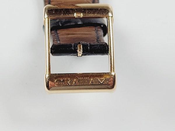 Graham 18ct gold and diamond manual watch sku 4851  DBGEMS - image 5