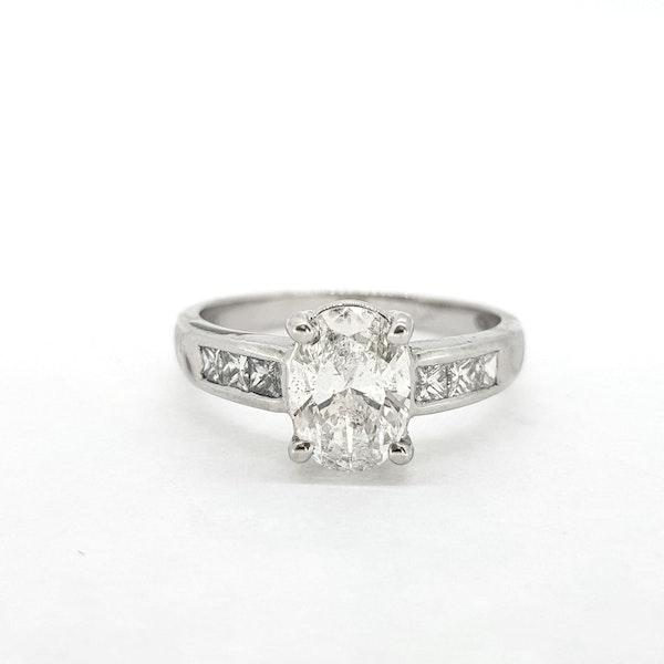 1.22ct Oval Diamond Ring - image 2
