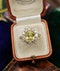 A very fine Natural Yellow Sapphire & Diamond Ring set in 18ct White & Yellow Gold, Circa 1985 - image 2