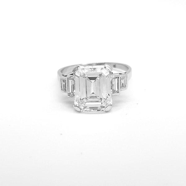 Original Art Deco Emerald Ring in Platinum - image 4