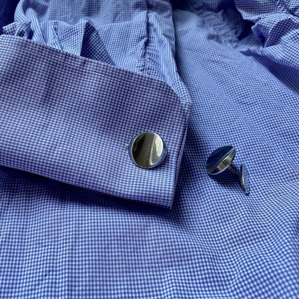 Georg Jensen Cufflinks in Silver date London1969 SHAPIRO & Co since1979 - image 2