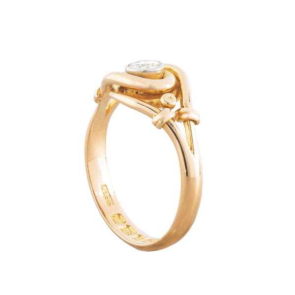 An Art Nouveau Diamond ring - image 2