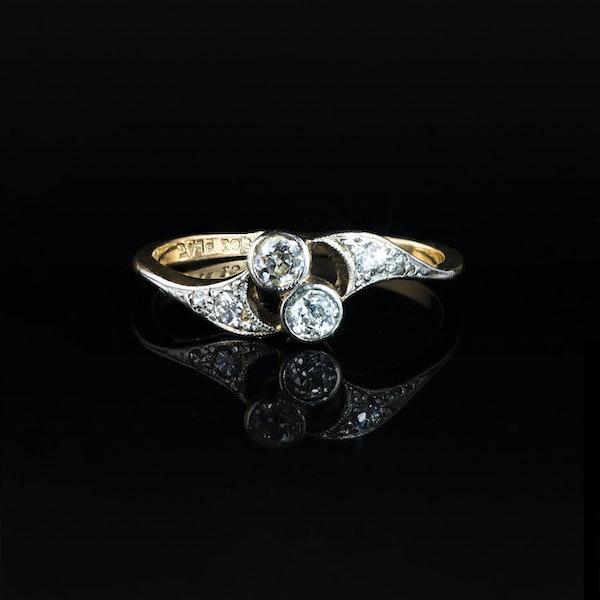 A Diamond Toi et Moi Ring - image 1