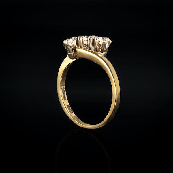 A Three stone Diamond Gold Ring - image 2