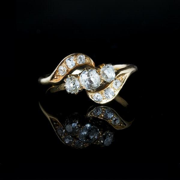 A Nine Stone Diamond Ring - image 1