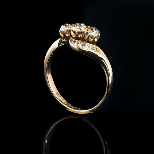 A Nine Stone Diamond Ring - image 2