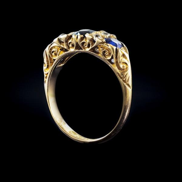 A three Sapphire Diamond Ring - image 2