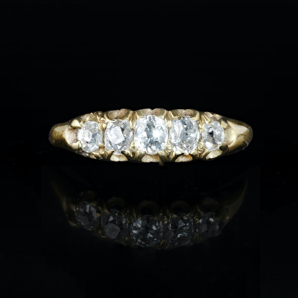 A Five Stone Diamond Ring - image 1