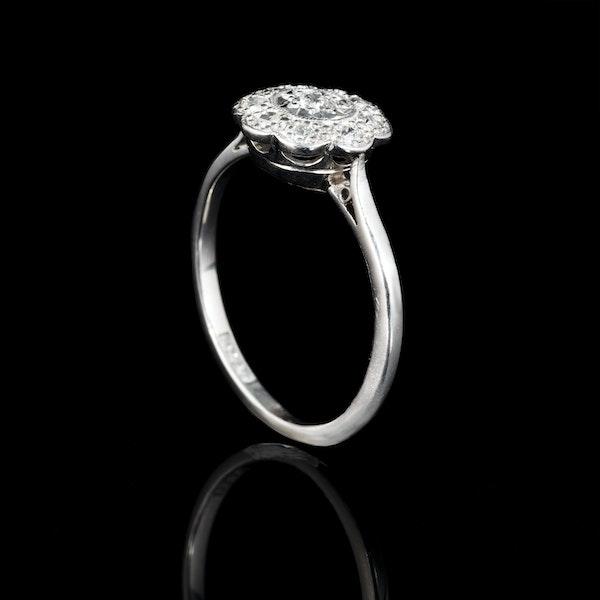 A Platinum Daisy Diamond Cluster ring - image 2